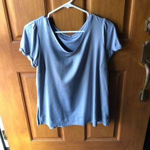 Ambrielle Blue/Gray/Silver Short Sleeve